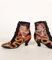 Swirling Dragon Granny Boots