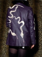 SALE 3D Python Sculpture Leather Jacket