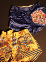 RESERVED Hissing Tiger 30s Satin Shorts