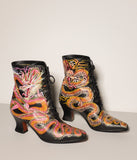 Swirling Rose Dragon Boots