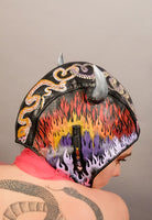 Snake Heart Leather Moto Bonnet