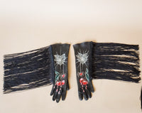 Heart Web Fringe Gloves