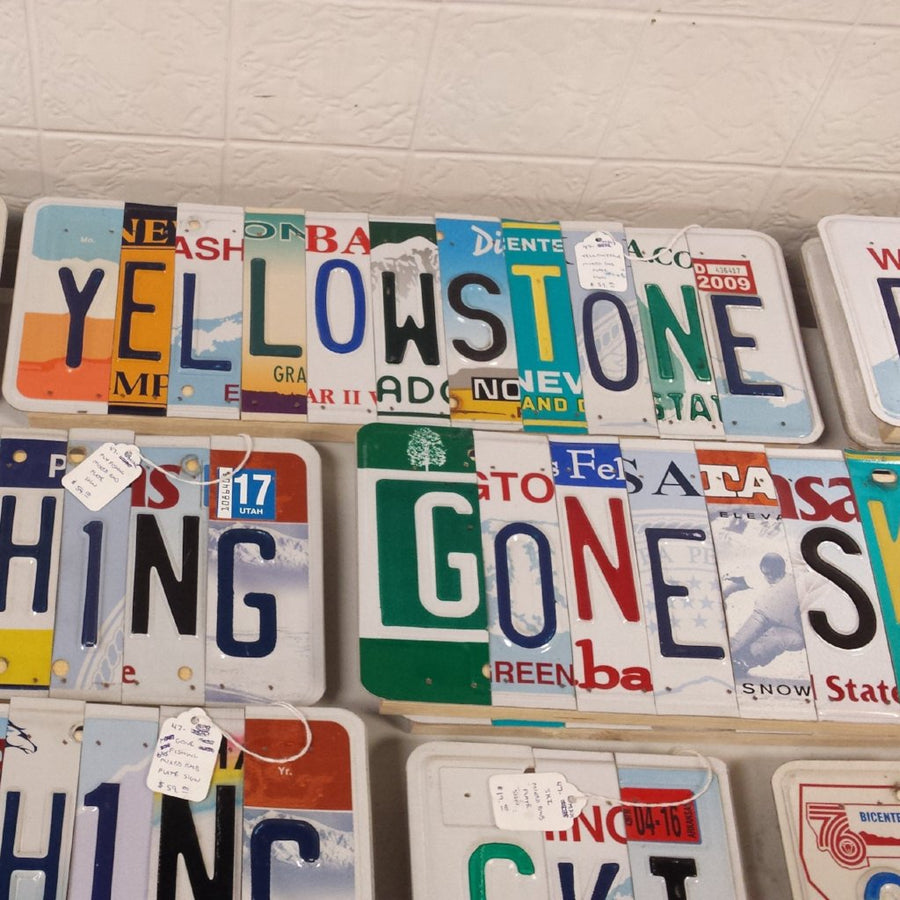 Red Beard License Plate Art
