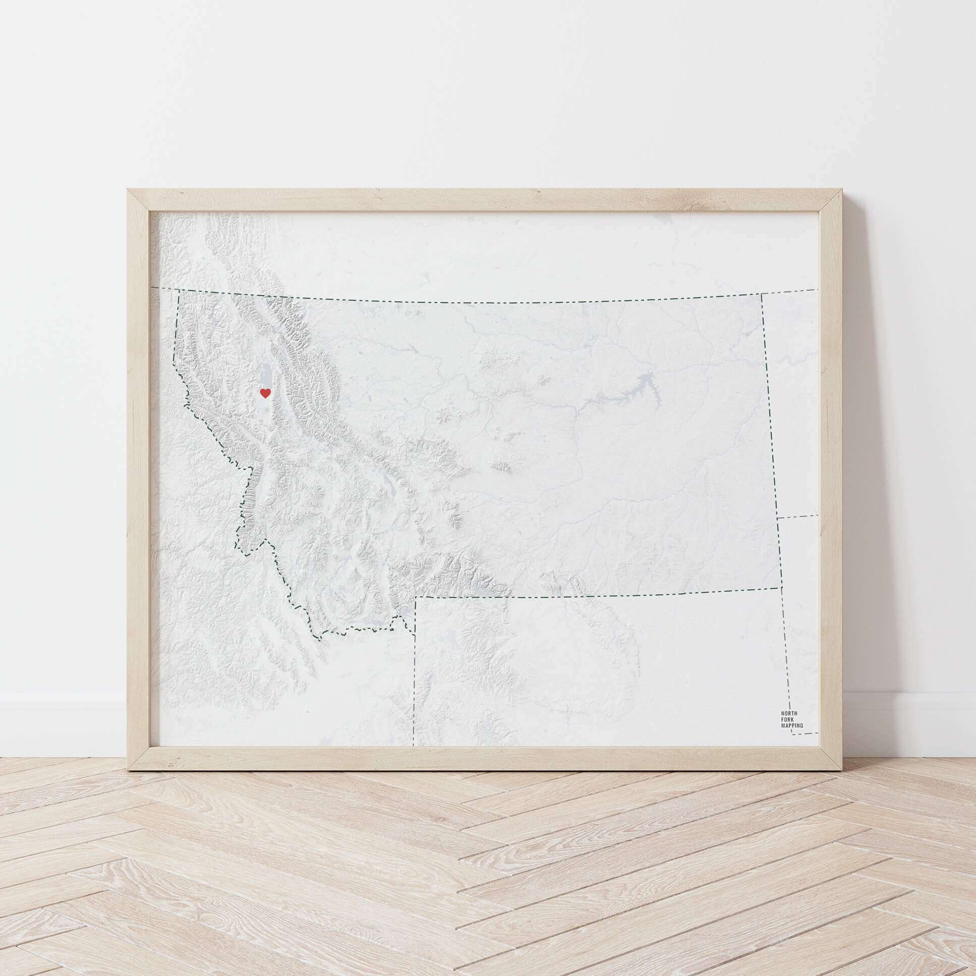 Montana Map with Heart