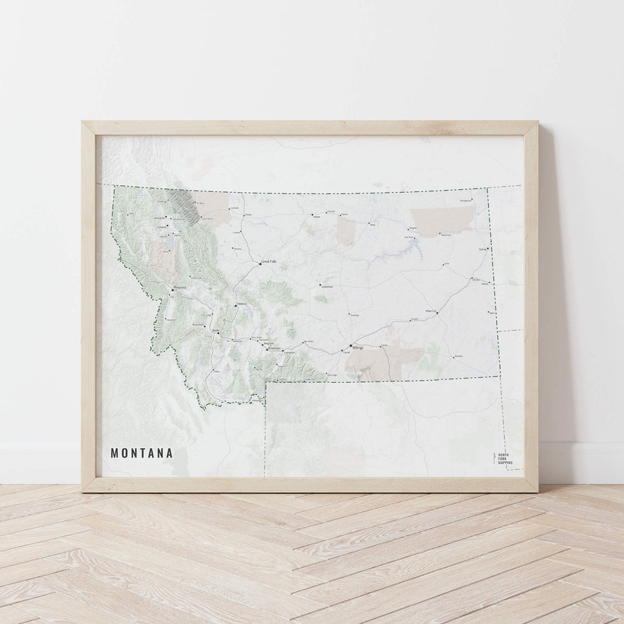 Montana Cities Map