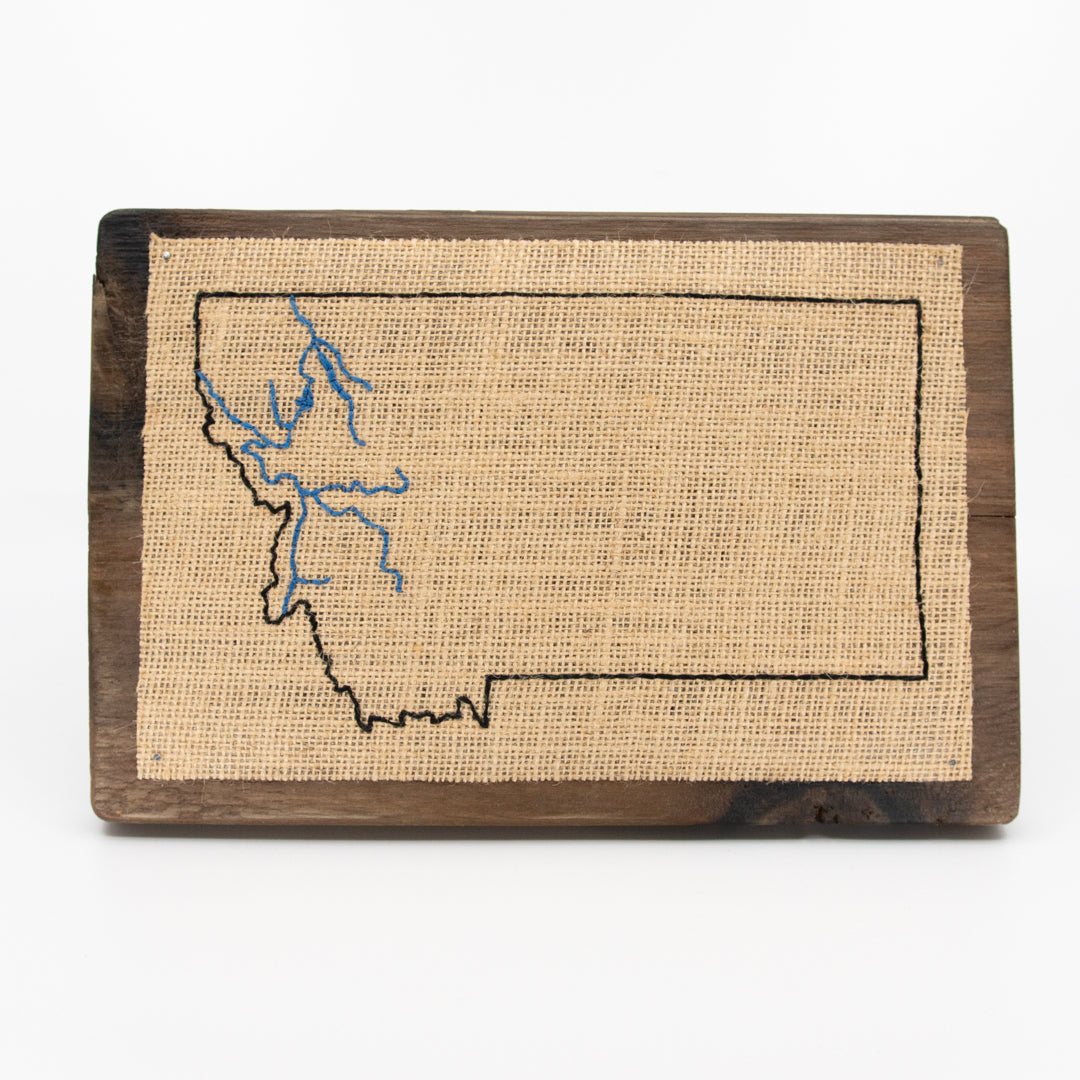 Clark Fork and its Tributaries Embroidery