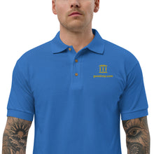 GovShop Logo Embroidered Blue Polo Shirt