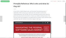 Navigating Federal Business Opportunities - Software Sales