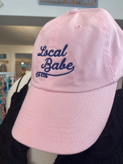 LOCAL BABE HAT - PINK/NAVY
