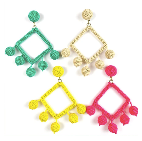 ERIN POM POM EARRINGS
