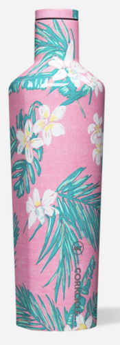 Vineyard Vines Pink Tropical Flowers Canteen