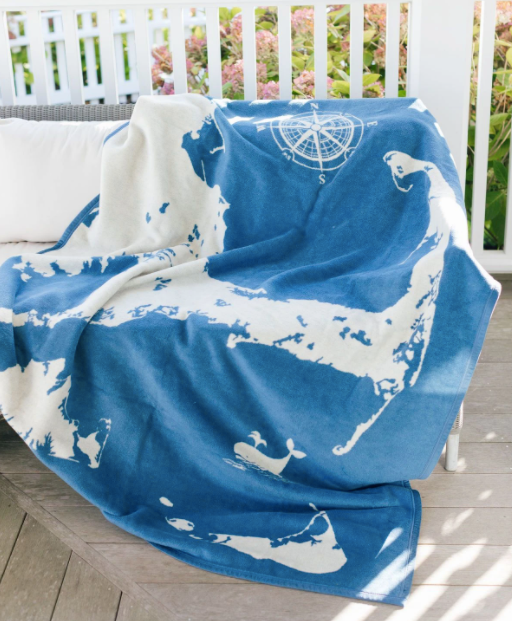 CHAPPY WRAP BLANKET - CLASSIC BLUE CAPE & ISLANDS