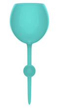 FLOATING WINE GLASS - TEAL TIDES