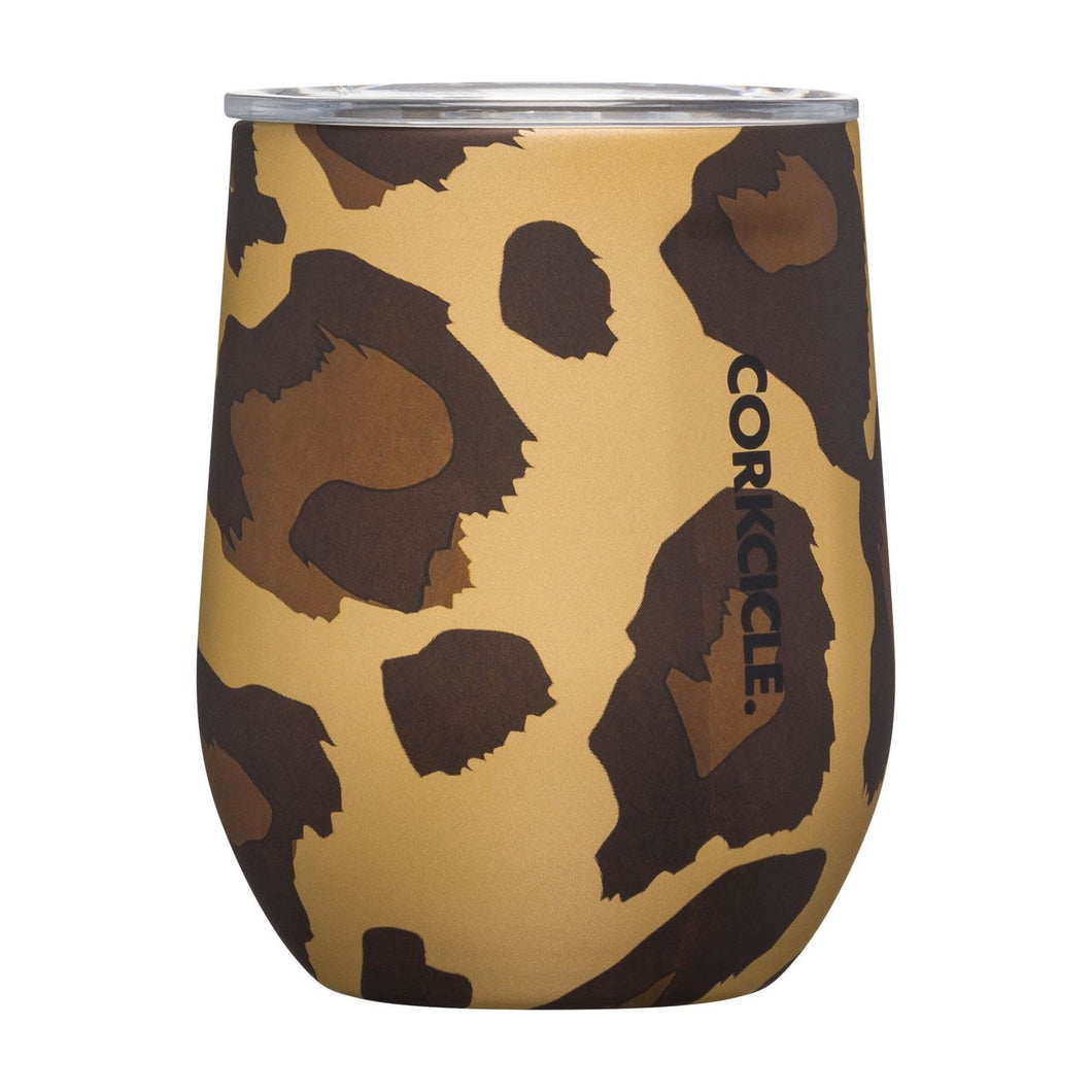 LUXE LEOPARD STEMLESS WINE GLASS