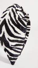 ZEBRA BADED VELVET HEADBAND