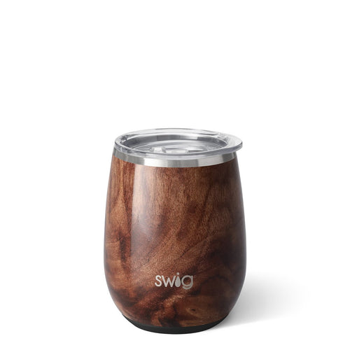 STEMLESS WINE CUP - BLACK WALNUT