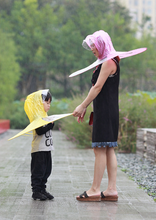 Fun Cap Umbrella Hat For Kids and Adults - Pink, Blue, Yellow
