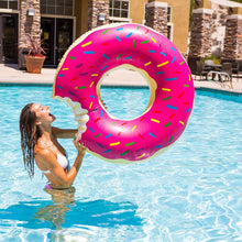 Sweet Giant Donut Dessert Pool Float - Pink or Chocolate