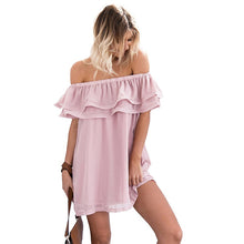 Causal Everyday Off Shoulder Ruffle Dress For Summer