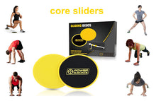 2Pcs Core Sliders with Carrying Bag - Great for Core Training & Home Workouts