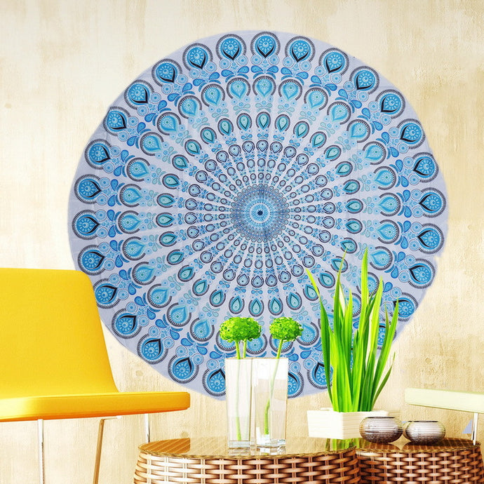 Round Flower Beach Towels