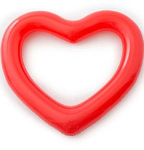 Pink/Red Inflatable Heart Beach/Pool Float