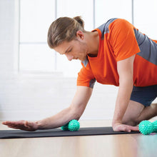 Spiky Peanut Shaped Massage Yoga Ball to Target Trigger Points Therapy