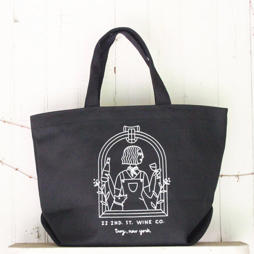 6 Bottle Tote Bag - Black