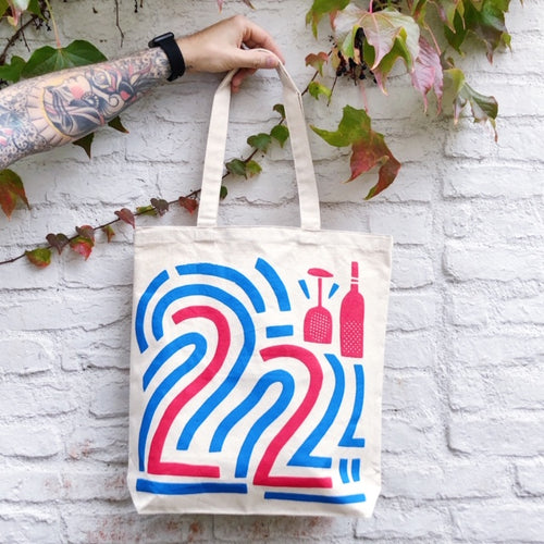 22 Tote Bag - Blue / Red