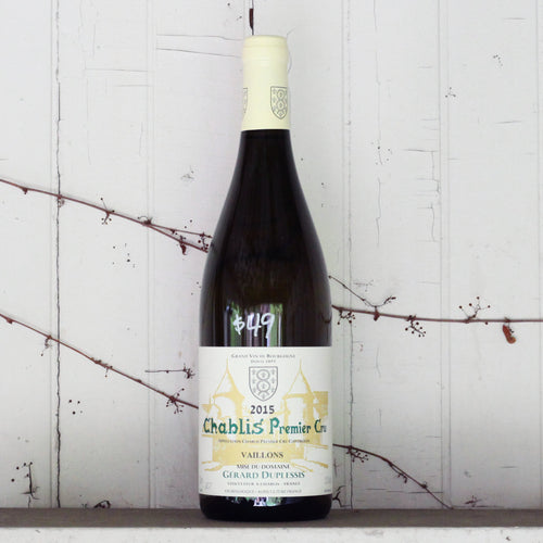 Gerard Duplessis - Vaillons Chablis 1er Cru 2015