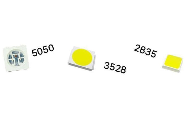 Numbers and LEDs: What does 2835, 3528 and 5050 mean?