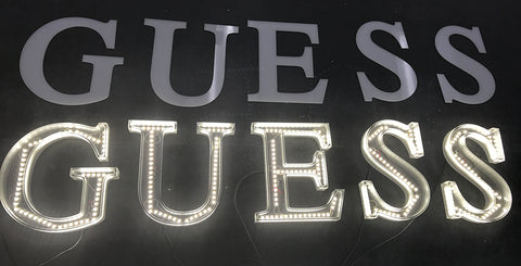 How to use LED Light Strips to Illuminate Acrylic Lettering and