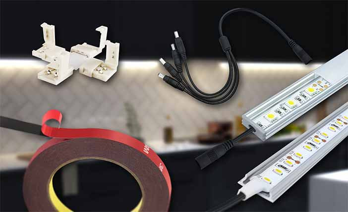 Display your lights at the precise measurement, color, and effect. Control your lighting with our Controllers, add a touch of class with our Aluminum Channels and ensure your installation is properly connected or to your project with our mounting supplies