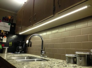 how to upgrade your kitchen or home with led light strips hitlights rh hitlights com led strip lights under cabinet home depot led light strip under cabinet lighting
