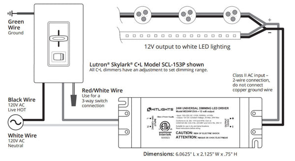 be dimmable not dim rh hitlights com Single Pole Dimmer Switch Wiring Diagram Dimmer Switch Installation Diagram