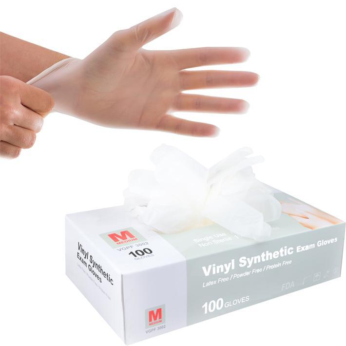 Disposable Vinyl Gloves - 100 Pcs - HitLights