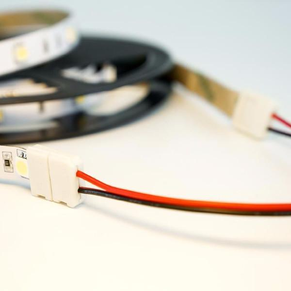 10mm (5050) Solderless LED Light Strip Connectors and Extensions : Single Color (6 Foot) - HitLights