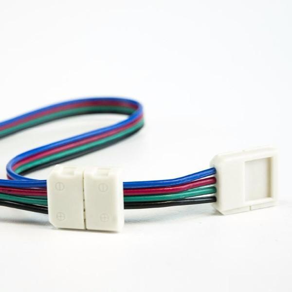 10mm (5050) Solderless LED Light Strip Connectors and Extensions : RGB Multicolor