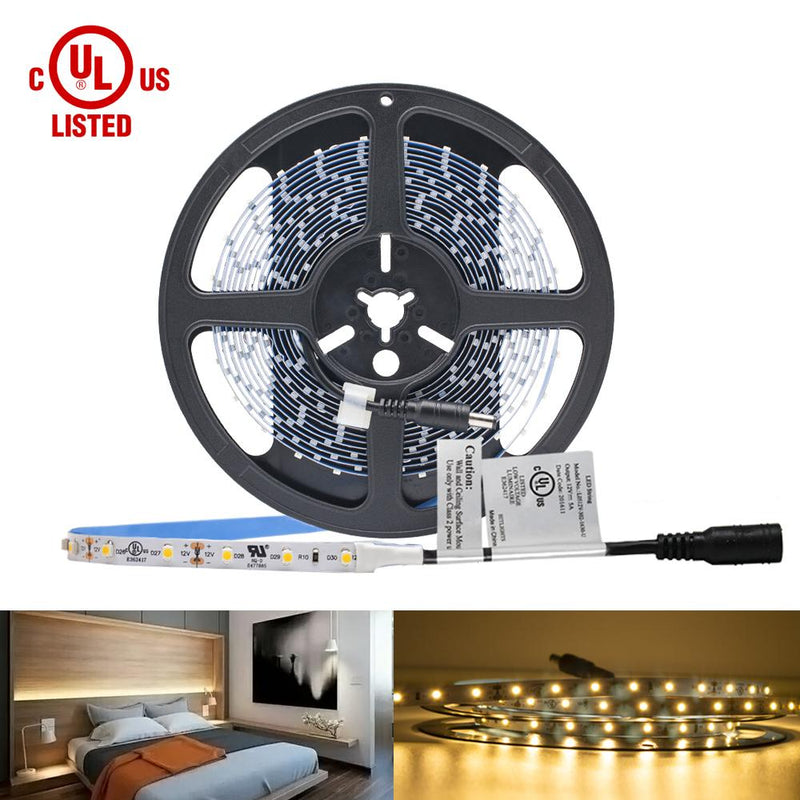 Premium Luma5 LED Light Strip, Single Color (UL-Listed) 16.4 Feet- Standard Density [IP-30] - HitLights