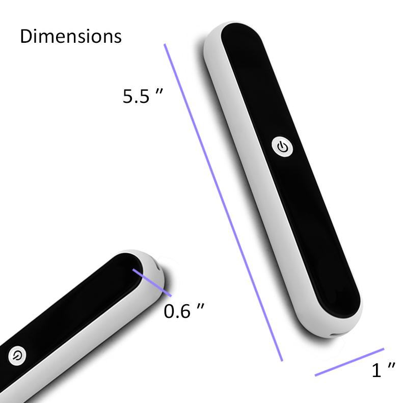 Portable UV Light Sanitizer Wand with Gravity Sensitive Protection - HitLights