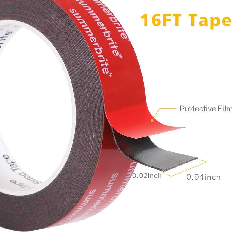 Double Sided Tape, Waterproof VHB Mounting Tape Heavy Duty - HitLights