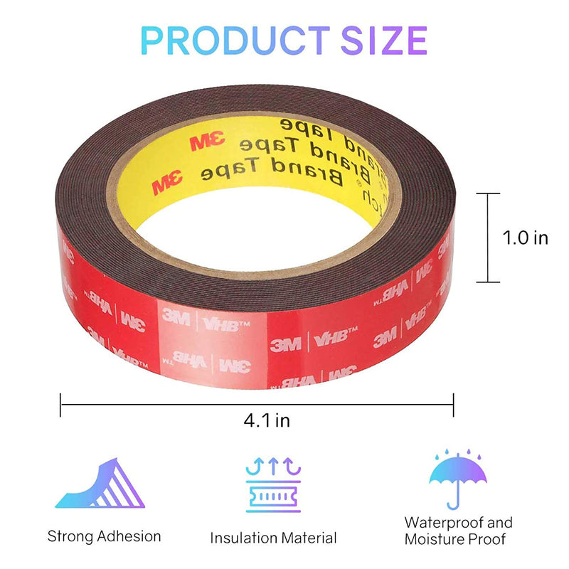 Double Sided Tape, 3M VHB Mounting Tape Heavy Duty, Waterproof Foam Tape, 16FT - HitLights