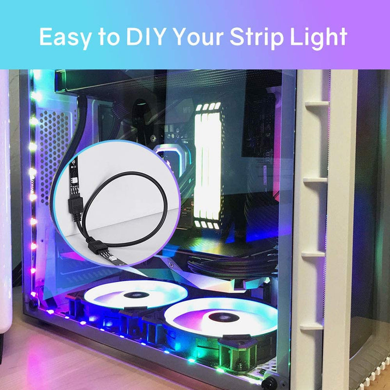 Weatherproof 4 Pre-Cut 12Inch/48Inch RGB LED Strips Eclipse Kit - HitLights