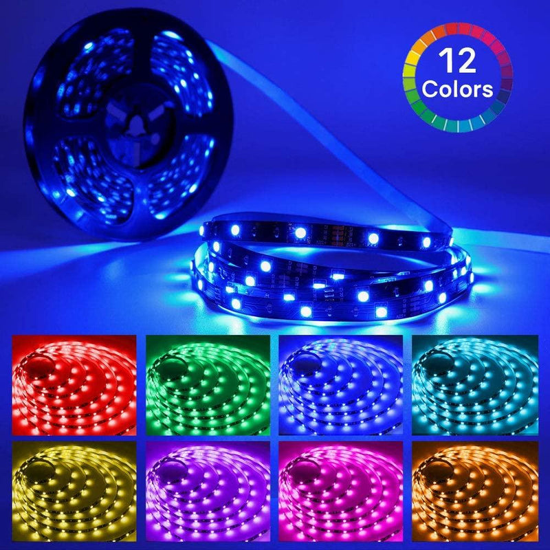 32.8ft LED Strip Lights, HitLights 5050 RGB Color Changing - HitLights