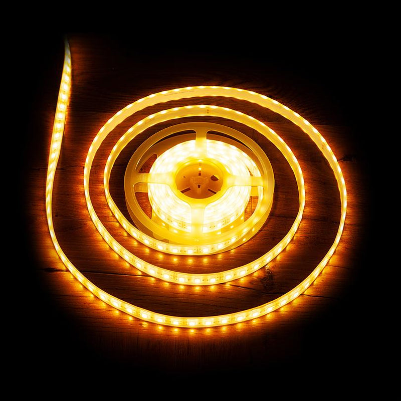 Premium Luma5 LED Light Strip, Single Color (UL-Listed) 16.4 Feet - Standard Density Waterproof [IP-67] - HitLights