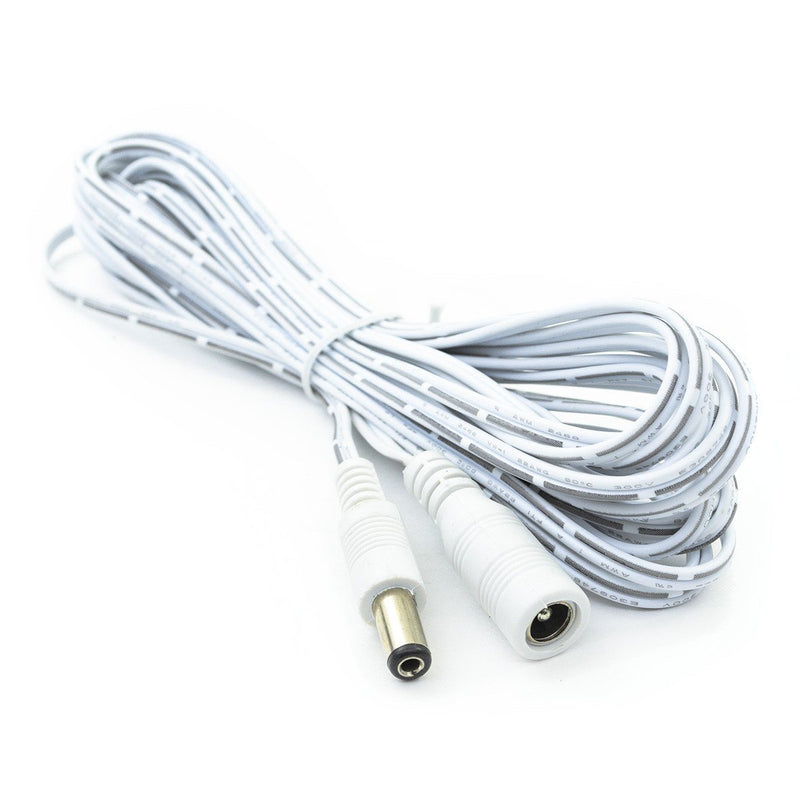 DC Extension Cable, Male to Female - 16.4 Ft - HitLights