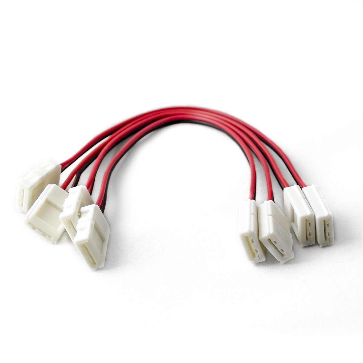 8mm (3528) Solderless LED Light Strip Connectors and Extensions : Single Color - HitLights
