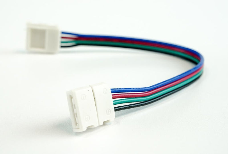 10mm (5050) Solderless LED Light Strip Connectors and Extensions : RGB Multicolor - HitLights
