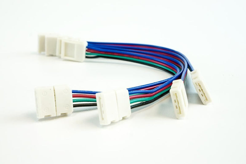 10mm (5050) Solderless LED Light Strip Connectors and Extensions : RGB Multicolor (6 Foot & 12 Foot) - HitLights