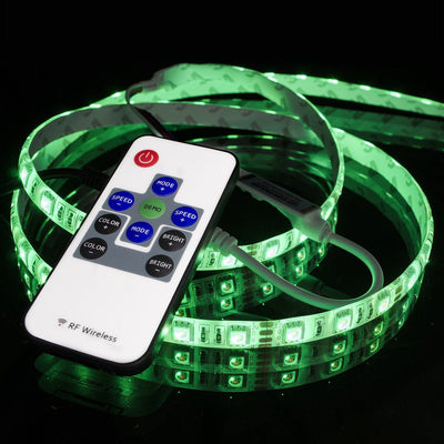 R108 RGB Multicolor LED Light Strip Controller : RF Remote - HitLights